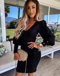 Елегантна дамска рокля в черно - код 2917