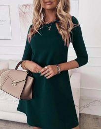 Свободна дамска рокля в зелено - код 8201