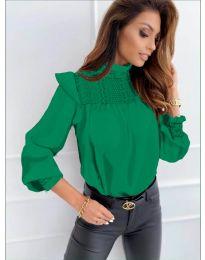 Дамска блуза в зелено - код 6202