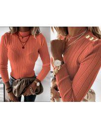 Дамска блуза в оранжево - код 9930