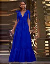 Дълга рокля в тъмносиньо - код 2743