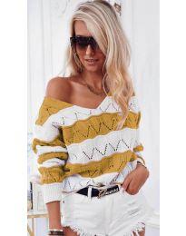 Дамска блуза в горчица- код 8689