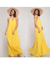 Свободна дълга рокля в жълто - код 0508