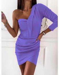 Елегантна рокля в лилаво - код 2079