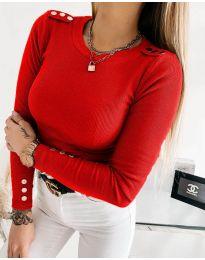 Ефектна дамска блуза в червено - код 1590