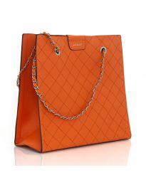 Дамска изчистена чанта в оранжево - LS591