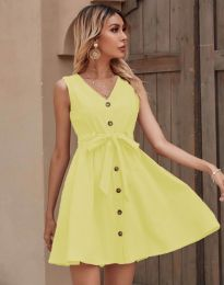 Дамска рокля в жълто - код 8188