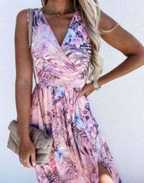 Дамска рокля с флорален десен - код 4801 - 6