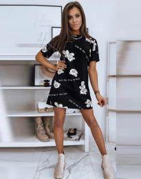 Свободна рокля в черно - код 2906
