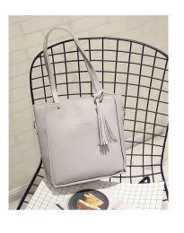 Дамска чанта в сиво - код B7