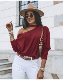 Дамска блуза в бордо - код 5618