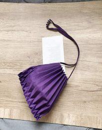 Ефектна дамска чанта в цвят лилаво - код B521