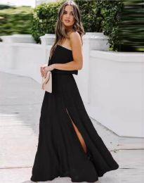 Дамска рокля в черно с цепка - код 8871