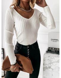 Елегантна дамска блуза в бяло - код 4121