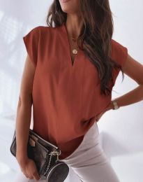 Атрактивна дамска блуза в меднокафяво - код 1745