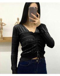 Дамска блуза в черно - код 385