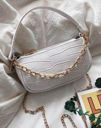 Ефектна дамска чанта в бяло - код B299
