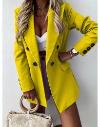 Елегантно дамско сако в цвят горчица - код 815