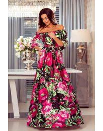 Дълга ефирна рокля - код 6599 - 4