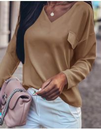 Дамска блуза в  кафяво - код 0802
