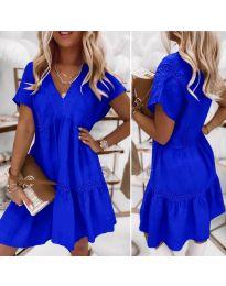 Дамска рокля  в синьо - код 8978