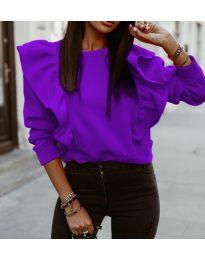 Дамска блуза в лилаво - код 3890