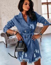 Дънкова рокля в синьо - код 2888