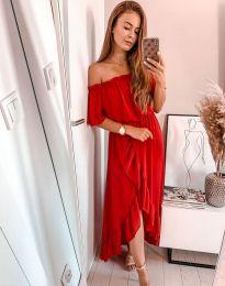 Елегантна рокля в червено - код 0186