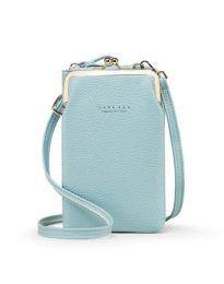 Дамска чанта в светло синьо - код B145