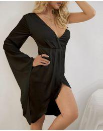 Стилна дамска рокля в черно - код 4790