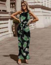 Дълга рокля с атрактивен десен - код 2964 - 1