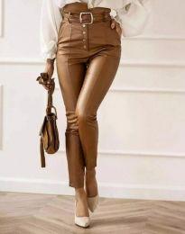 Дамски панталон в кафяво - код 2782