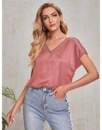 Атрактивна дамска тениска в цвят праскова - код 5754