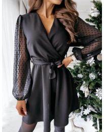 Елегантна рокля в черно - код 1600