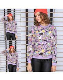 Дамска блуза с анимационен десен - код 1471 - 6