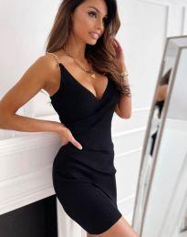 Атрактивна дамска рокля в черно - код 0993