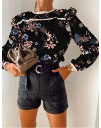 Дамска риза с флорален десен - код 7703 - 5