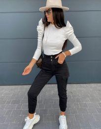 Стилна дамска блуза в бяло - код 2838