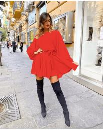 Свободна рокля в червено - код 5088