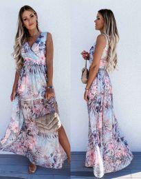 Дамска рокля с атрактивен десен - код 0570 - 2