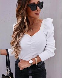 Дамска блуза в бяло - код 394