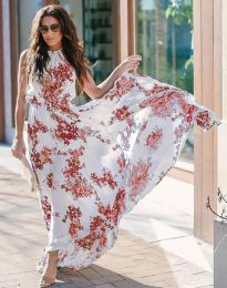 Дълга рокля с флорален десен - код 2963 - 4