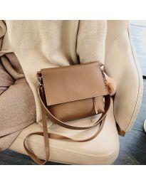 Дамска чанта в цвят капучино - код B23-5977