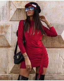 Дамска рокля в бордо - код 9545