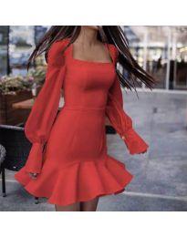 Елегантна рокля в червено - код 3605