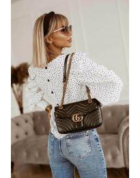 Атрактивна дамска блуза в бяло - код 3250
