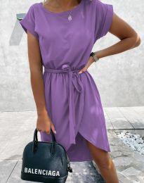 Дамска рокля в лилаво - код 2074