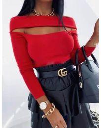 Елегантна блуза в червено - код 1552