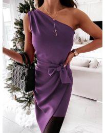 Елегантна рокля в лилаво - код 6442