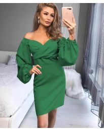 Елегантна рокля в зелено - код 6761